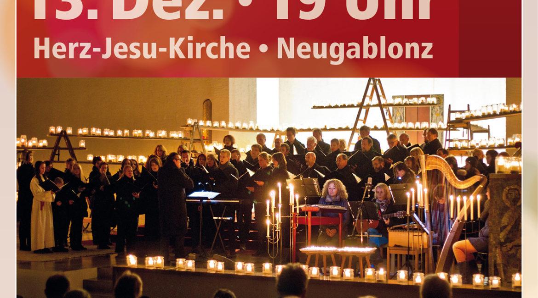 13. Dez.: Sankta-Lucia Lichterkonzert des A-Capella-Chors Neugablonz