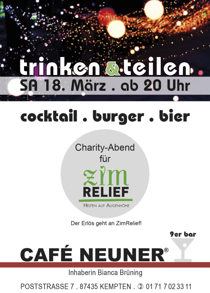 18. März: Charity Party im Café Neuner in Kempten